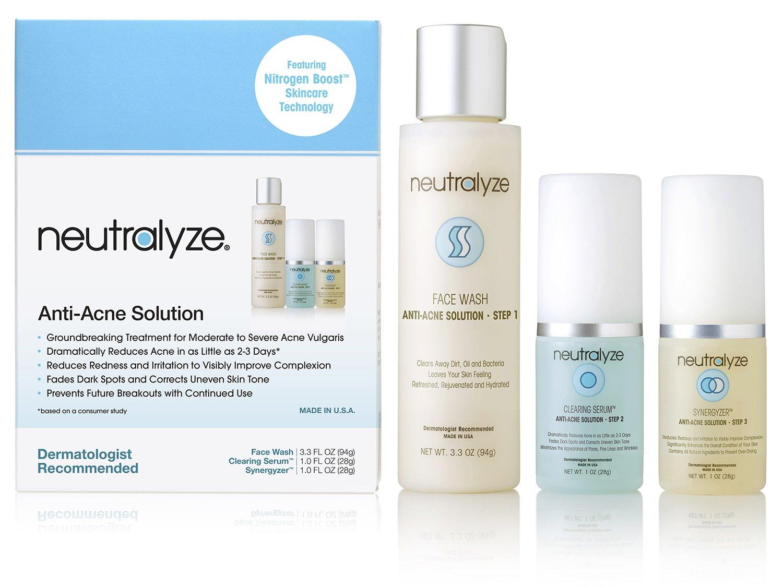 Neutralyze Moderate To Severe Acne Treatment Kit (30 Day) - Maximum Strength Anti Acne Medication With Salicylic Acid + Mandelic Acid + Nitrogen Boost Skincare Technology by Neutralyze Anti-Acne Solution