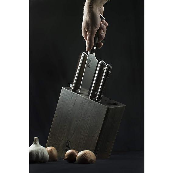 Amazon.com: Shun swts0600 kanso 6-Piece Block Set: Kitchen ...