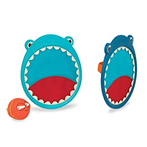B toys by Battat – Critter Catchers Finley the Shark – Ball and Catch Game Set for kids 3+(3-Pcs)