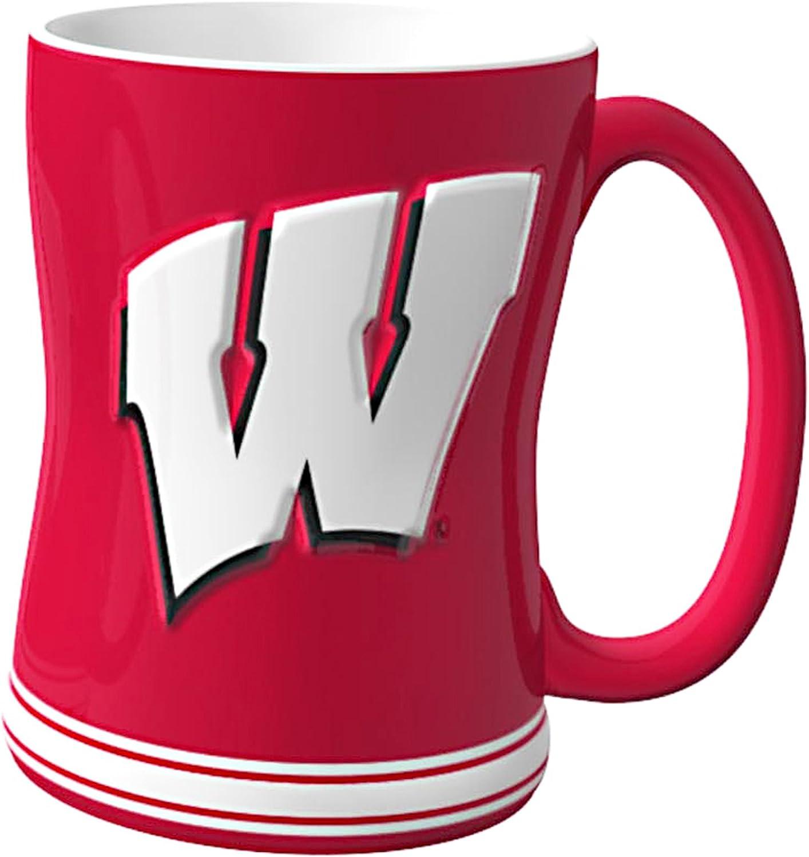 Boelter Brands NCAA Unisex NCAA Sculpted Relief Mug 14-Ounce