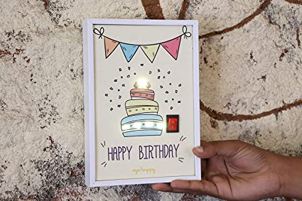Oye Happy Unique LED Greeting Card Birthday Gift For Boyfriend
