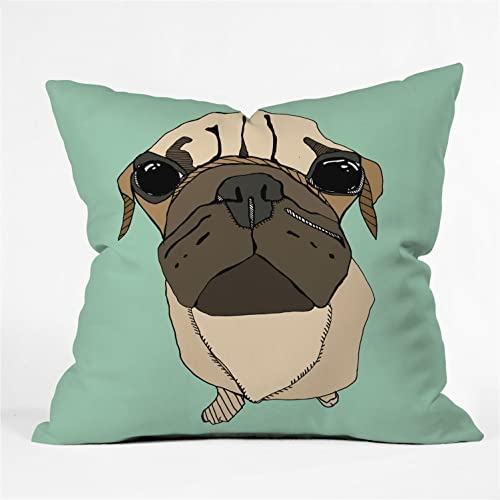 Deny Designs Casey Rogers Puglet Throw Pillow, 16 x 16