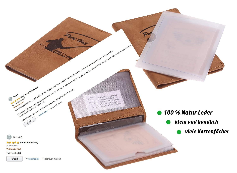 ca 15,8 cm x 11,8 cm für Angelschein und Dokumente Dokumentenmappe von Jenzi