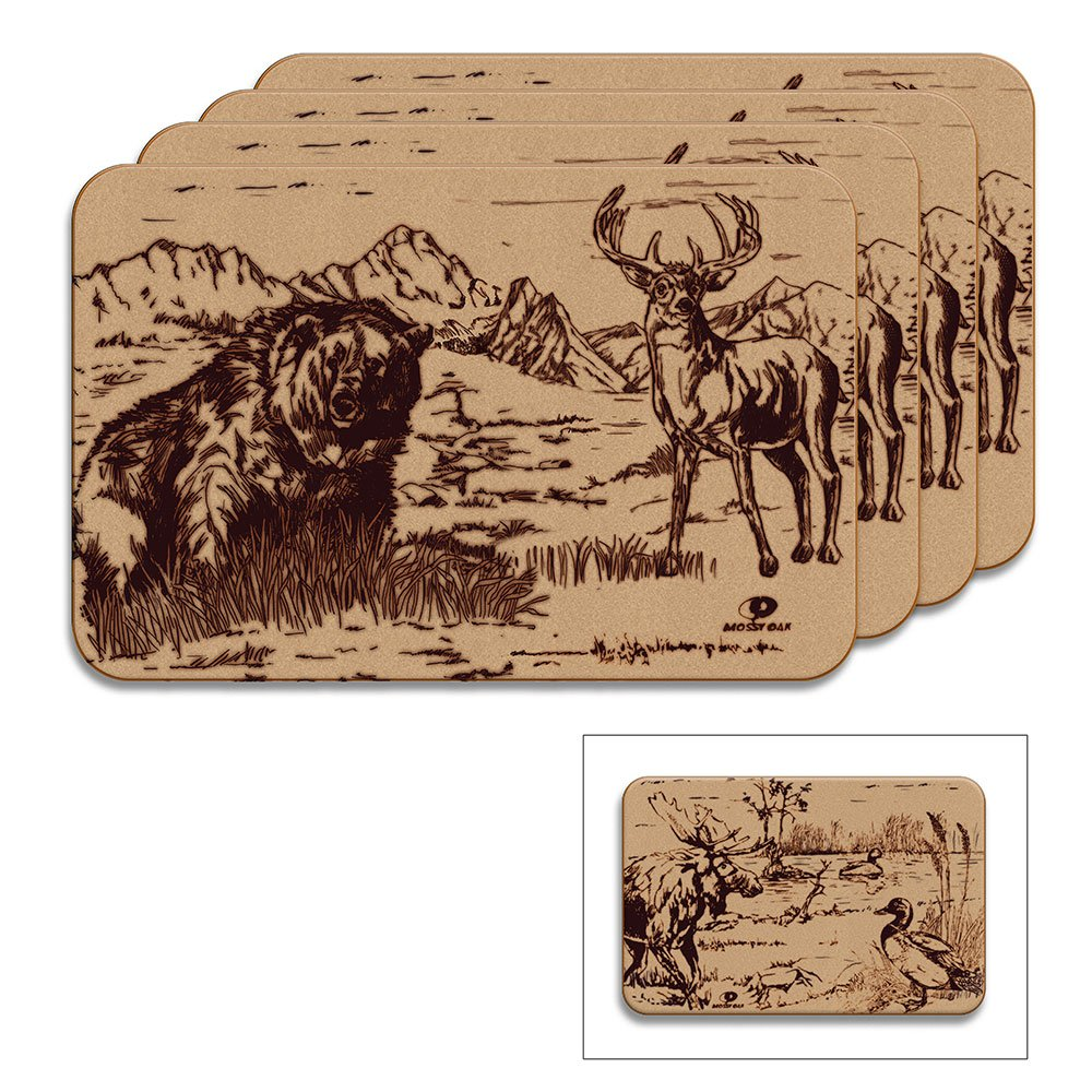Mossy Oak Animal Print Reversible Placemat (Reversible Placemats, Set of 4)