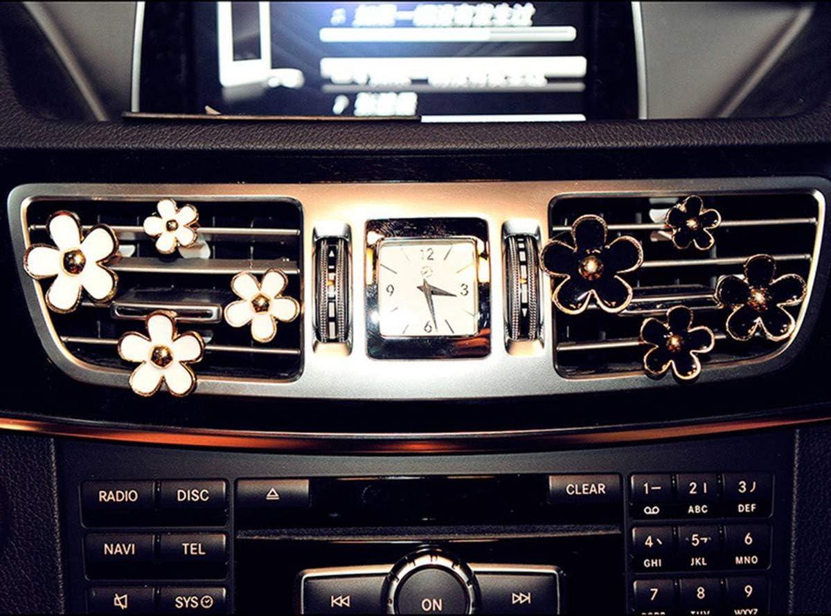 4 Pack Car Charm Beautiful Daisy Flowers Air Vent Decorations Cute Automotive Interior Trim Black