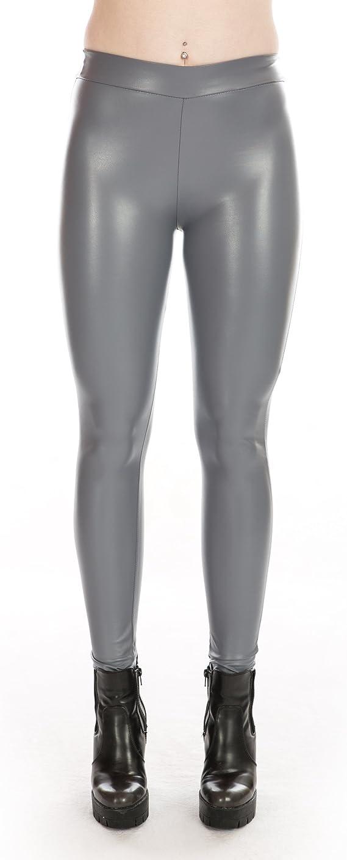 Herren Stretch Kunstleder Glanz Lack-Optik Leggins Röhrenhose Leggings Slim Fit