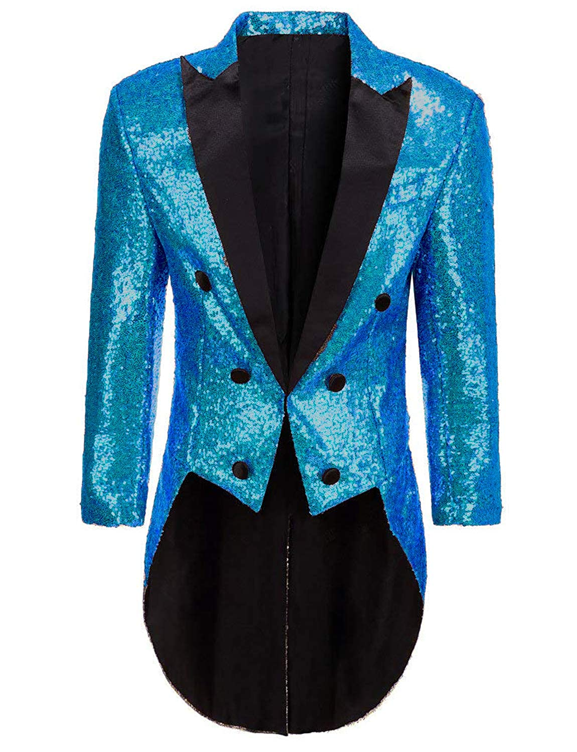 DGMJDFKDRFU Sequins Tailcoat Costume Men for Halloween Tuxedo JK005