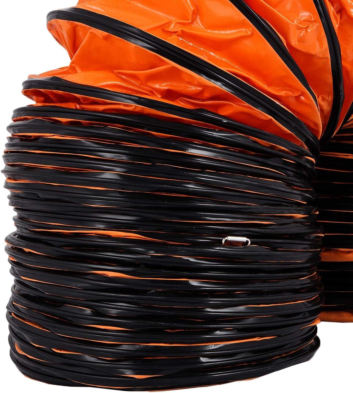 Chrisun Tuyau Da/ération Flexible 4.9M Diam/ètre De 12 Pouces Tuyau flexible En PVC Pour Conduits De Ventilation Flexibles Et Ventilateurs Portables Tube Flexible hotte En PVC 4.9M 12 Pouces