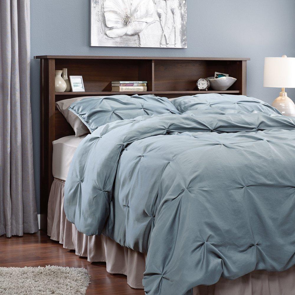 Sauder Bedroom Furniture Amazoncom Sauder 415997 Rum Walnut Finish County Line Full