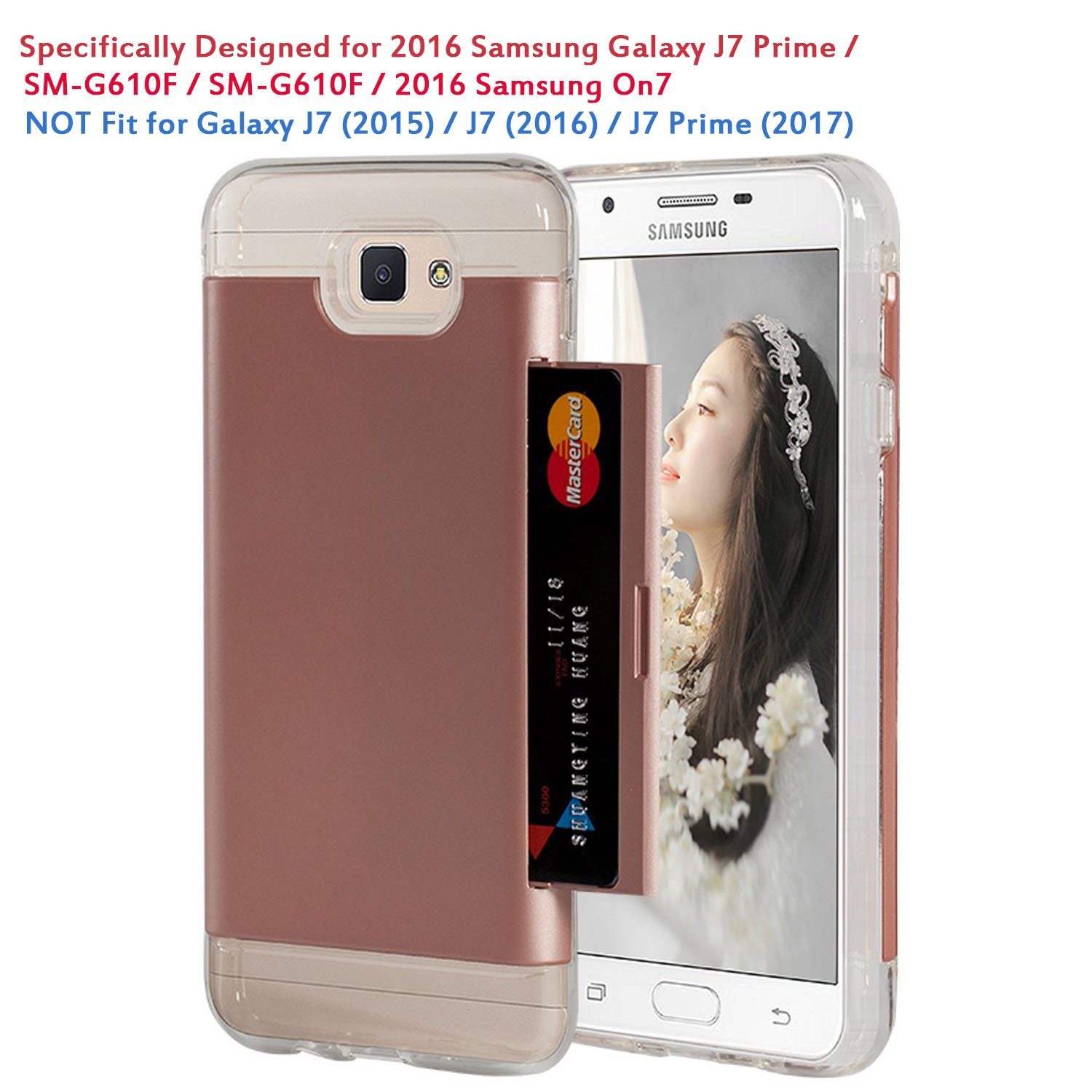2016 Galaxy J7 Prime Wallet Casespsun With Card Credit Samsung Sm G610f Holder Slot Protective Cover Case For Released On7