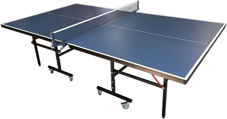 GRAFICA MA.RO SRL Juego DE Mesa Ping Pong Profesional Plegable Medidas reglamentarias: 274 x 152 cm Azul Nuevo Robusta Y Resistente: Amazon.es: Deportes y aire libre
