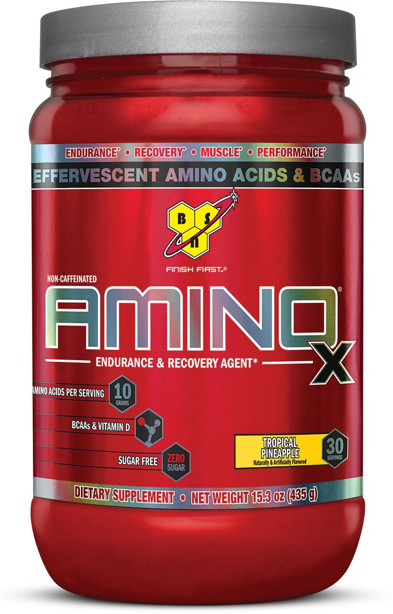BSN Amino X Post Workout Muscle Recovery & Endurance Powder with 10 Grams of Amino Acids Per Serving, Flavor: Tropical Pineapple, 30 Servings