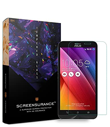 SCREENSURANCE's Clear Tempered Glass for Asus Zenfone Max 5.5inch ZC550KL  1 Piece  Feature Packed TOP Notch Quality Screen Guard with Free Lifetime G