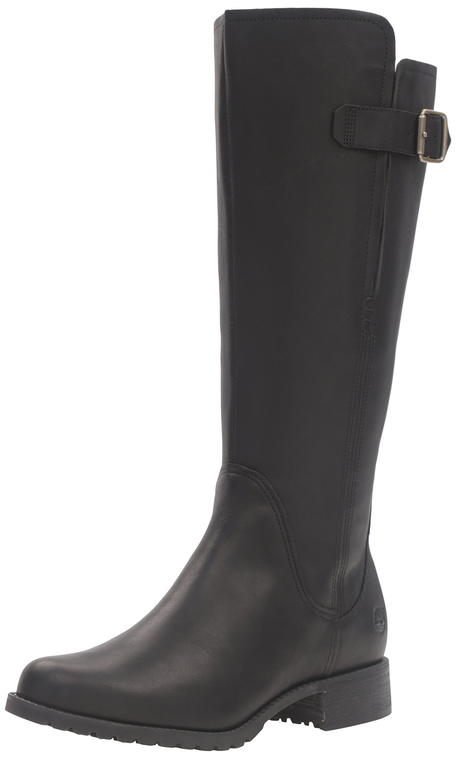 Timberland Women's Banfield Tall All Fit WP Riding Boot , Jet Black Forty, 8 M US