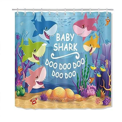 Amazon Com Youyoutang Underwater World Baby Shark Shower