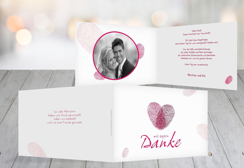 Kartenparadies Danksagung für Hochzeitsgeschenke Hochzeit Hochzeit Hochzeit Dankeskarte fingerprint, hochwertige Danksagungskarte Hochzeitsglückwünsche inklusive Umschläge   20 Karten - (Format  148x105 mm) Farbe  Grau B01NBWZ6LR   Feine Verarbeitung   7a7b07