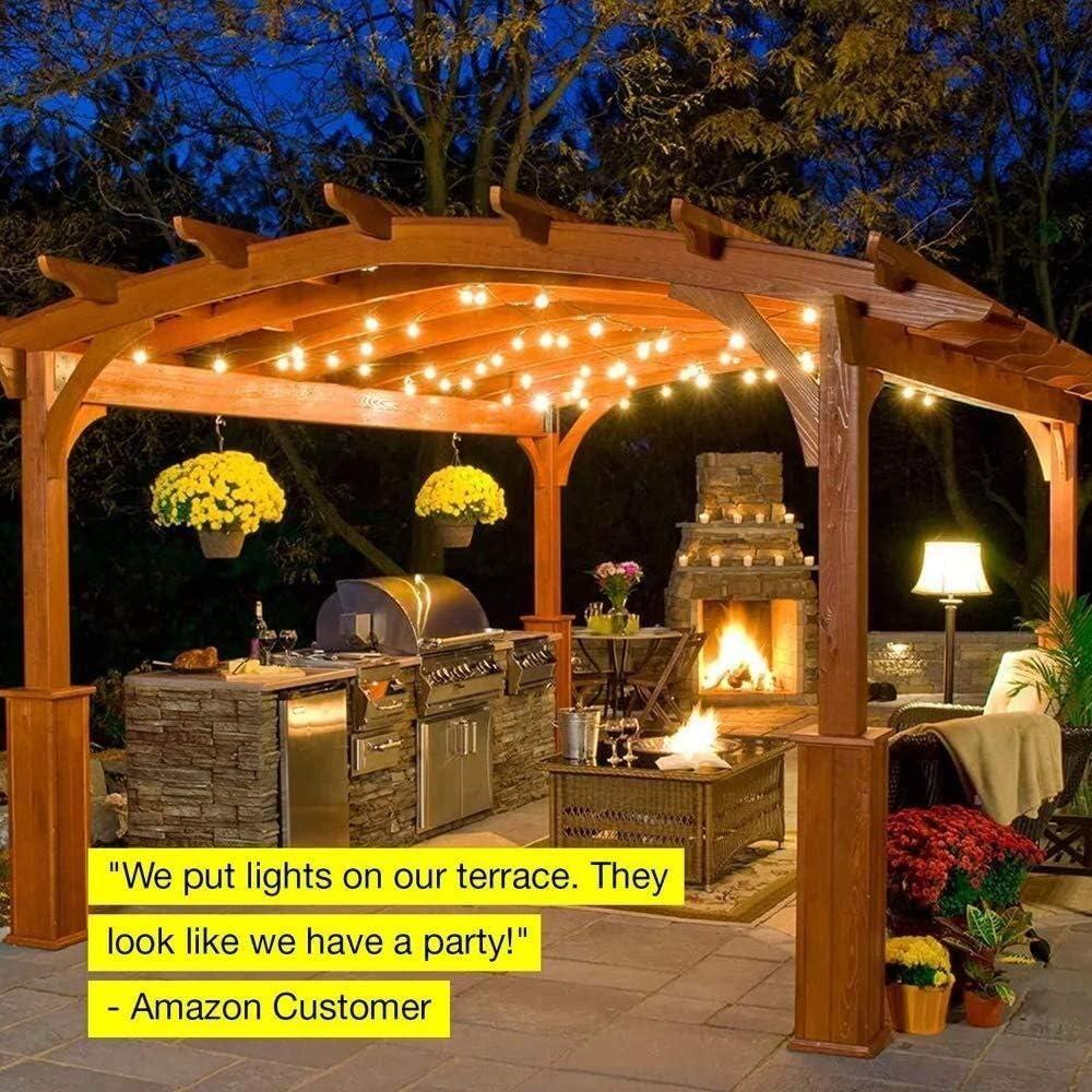 LIUYUNQ Solar Impermeable Al Aire Libre del LED Luz De La Secuencia, 8.2M, 25LED Cadena Ligera Esférica Colgando De Hilo De Luz Interior/Exterior Luces de Navidad de la batería: Amazon.es: Hogar