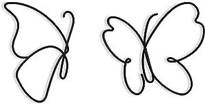 Matani Metal Butterfly Wall Decor (2 Elegant Butterflies) | Butterfly Metal Wall Art