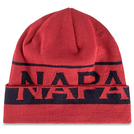 Napapijri Far Sparkling Men s Hat Red  Amazon.co.uk  Clothing 59aeb8f6a054