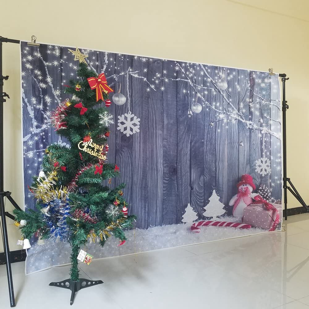 Levoo Flannel Fireplace Christmas Tree Background Banner Photography Studio Child Baby Birthday Family Party Christmas Holiday Celebration Photography Backdrop Home Decoration 5x5ft,chy656
