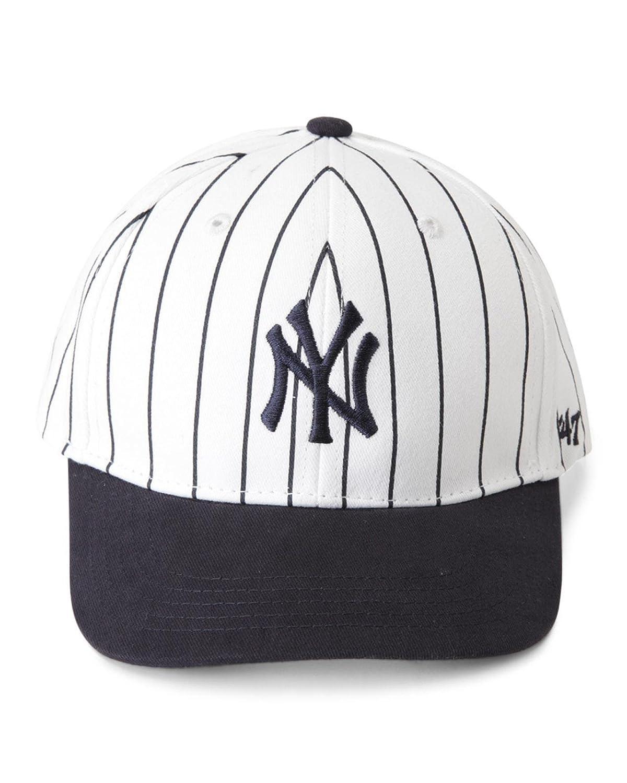 fed4e9ae3d0d5 Amazon.com  47 Brand New York Yankees MLB Infant Basic MVP Cap - Navy Blue  (Pinstripe White Blue