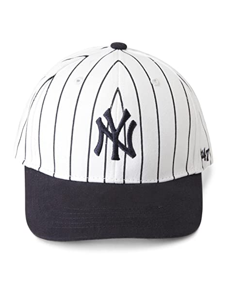 3767298525d 47 Brand New York Yankees MLB Infant Basic MVP Cap - Navy Blue (Pinstripe  White