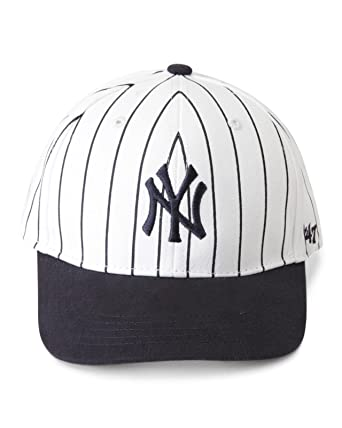 Amazon.com  47 Brand MLB New York Yankees MVP Cap - Pinstripe Kids ... 6f0b549cb8