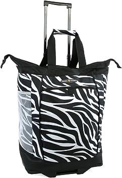 Pacific Coast Signature Large Rolling Shopper Tote Bag Leopard