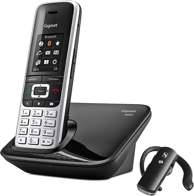 Gigaset S850+Bt - Teléfono inalámbrico manos libres con conexión bluetooth y auriculares incluidos