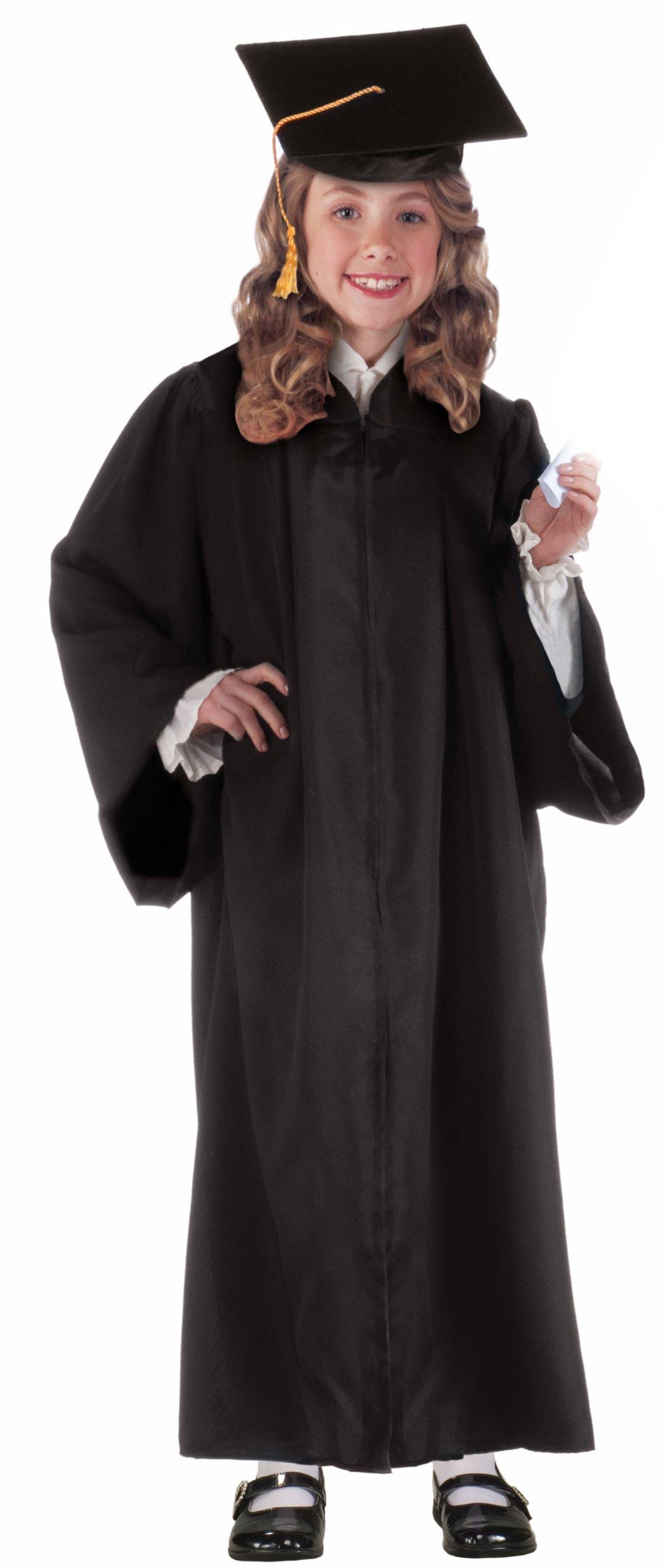 Forum Novelties Children's Graduation Robe Costume Accessory, Black (Hat Not Included)