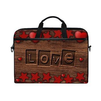 Bennigiry Romantic Love - Funda Bandolera para Ordenador Portátil DE 14 a 15,6 Pulgadas: Amazon.es: Informática