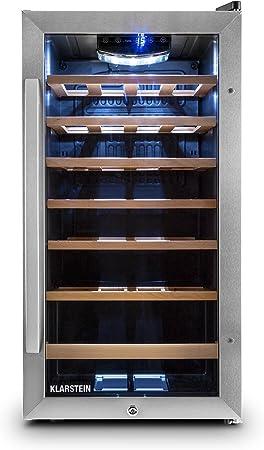 CAPACIDAD Y AISLACIÓN: Nevera para vinos de color negro con capacidad para 26 botellas estándar (88