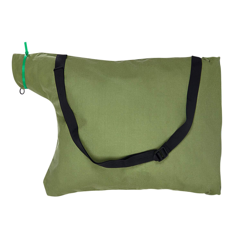 Zipcse Leaf Blower Vacuum Zippered Bottom Dump Bag for for Ultra Blower Rake & Vacuum Leaf Blowers