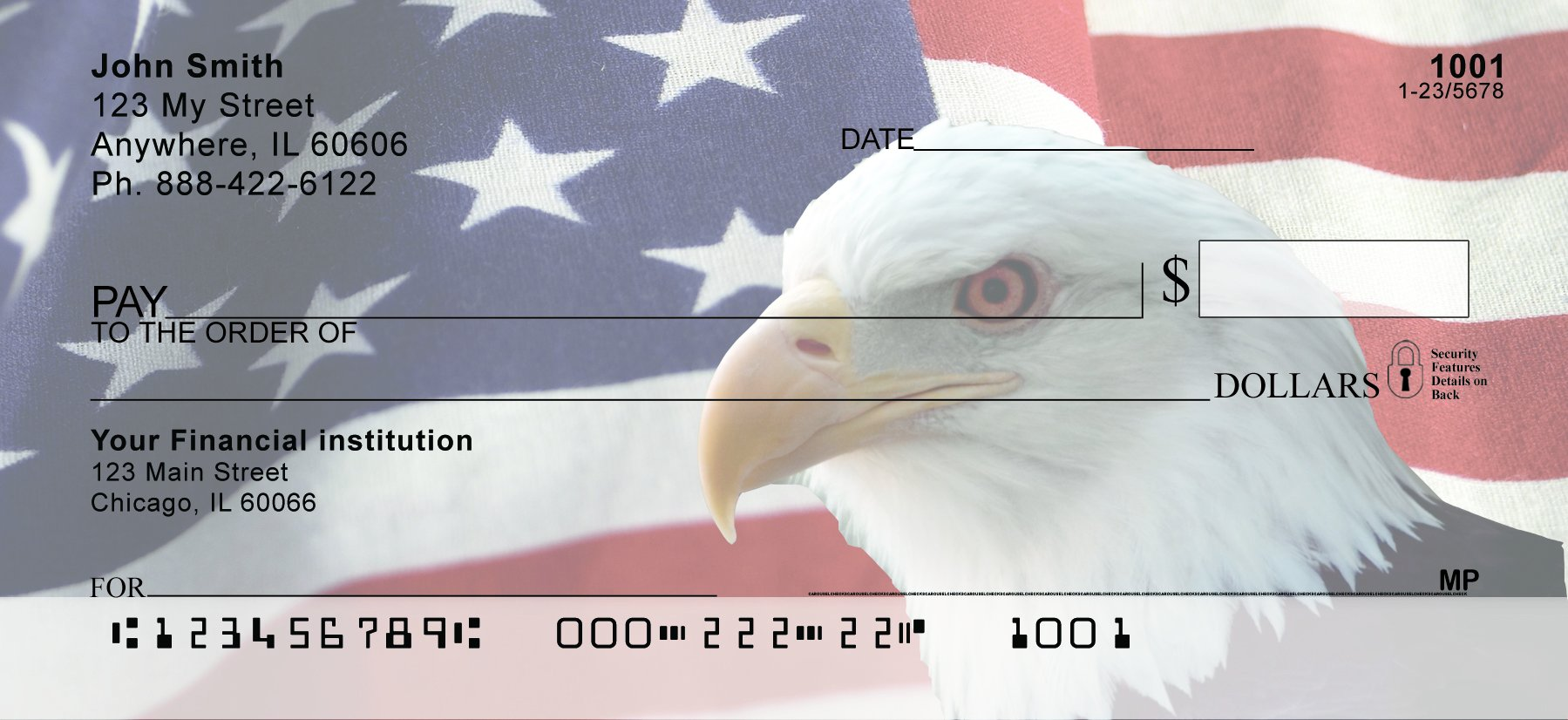 Soaring Over America Personal Checks (2 Boxes Duplicates)