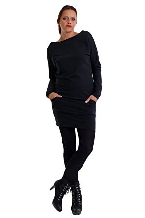 3ea06c8fc6c 3Elfen Sweatshirt Dress with Pockets Made in Berlin: Amazon.co.uk: Clothing