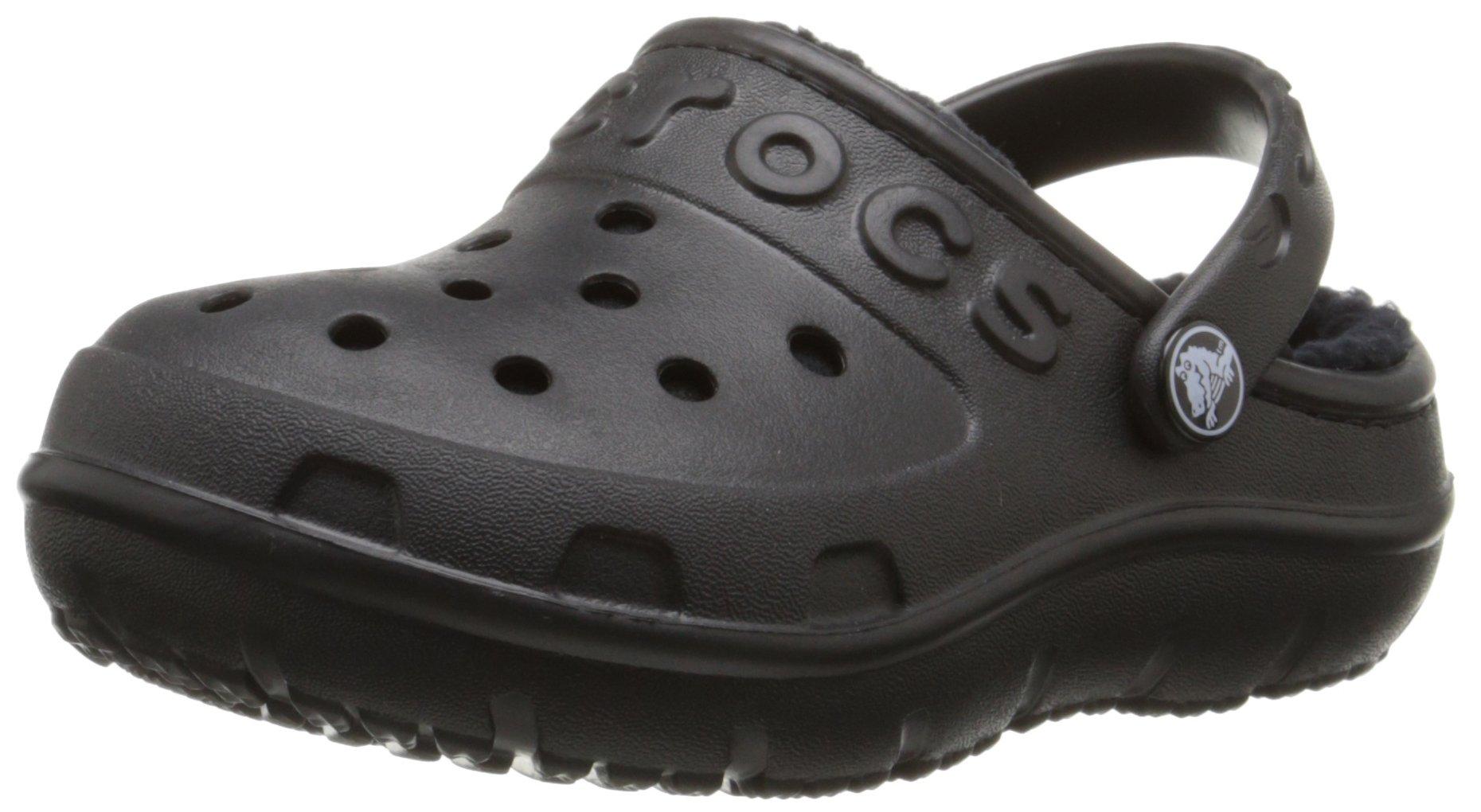 crocs Hilo Lined Clog (Toddler/Little Kid), Black/Black, 10 M US Toddler by Crocs
