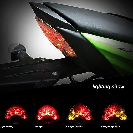 BSK LED luz trasera integrada señales de giro luz de freno ...