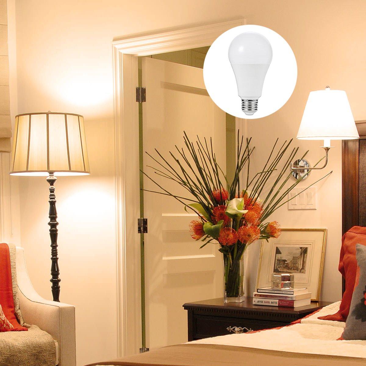 confezione da 4 non dimmerabile 2500lm Bianco Caldo LOHAS/® Lampadina LED E27 23W Equivalenti a 200 W 2700K