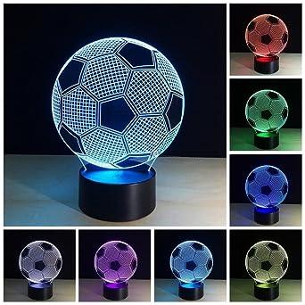 3d Bunte Lichter Led Fussball Lampe Acryl Vision