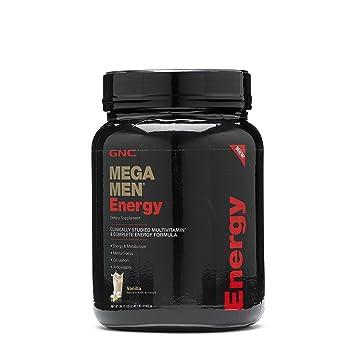 Amazon.com: GNC Mega Men Energy - Vainilla 2.45 libras., 1 ...