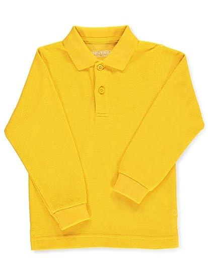 28656369 Amazon.com: Universal Little Boys' Toddler L/S Pique Polo - Gold, 2t ...