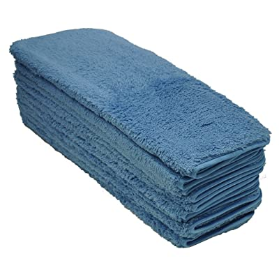 Eurow Double Density Microfiber Soft Fluffy Absorbent Shag Towels Scratchless Cleaning Drying Detailing 700GSM 12 X 16 Inches 10 Pack: Automotive