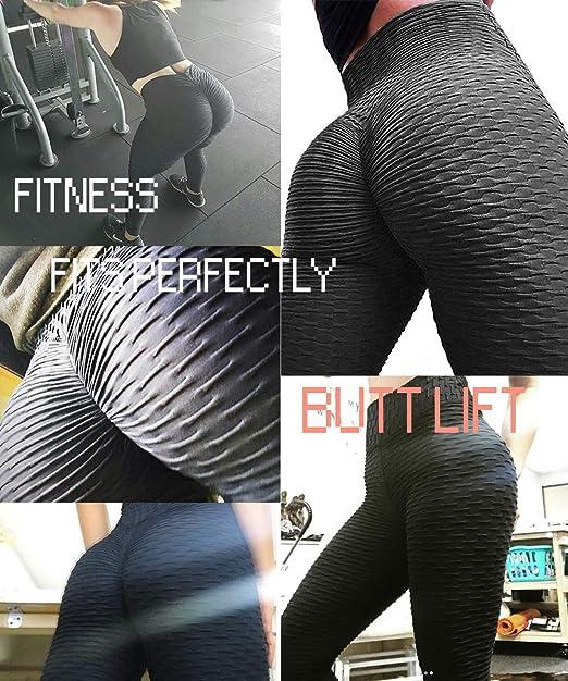 MARIJEE Legging de Sport Femme Anti-Cellulite Butt Lift Leggings de Sport Slim Fit Taille Haute Pantalon de Yoga Leggings de Compression pour Yoga,Running,Pilates,Fitness