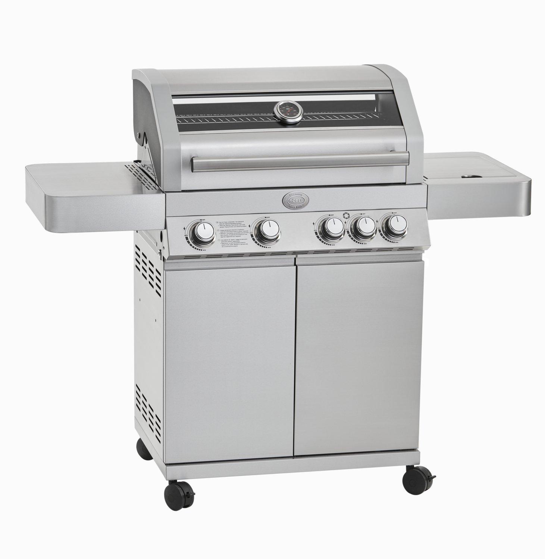 Rösle BBQ Barbecue a gas station videro G4 in acciaio inox, 138 x 60 x 118 cm, 25303
