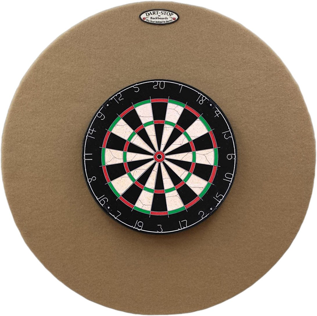 36'' Professional Dartboard Backboard, Round (Tan)