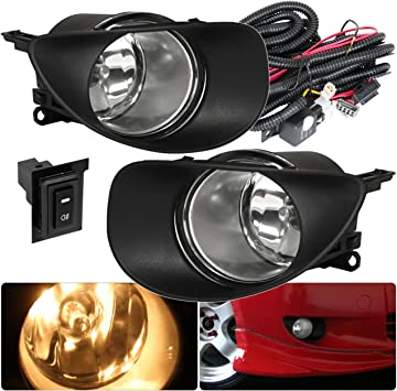2X Front Bumper Clear Fog Lights Lamps Bulbs For Toyota Yaris 09-11 2//4dr Hatch