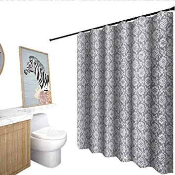 Amazon Com Homecoco Grey And White Fabric Shower Curtain Rich Royal