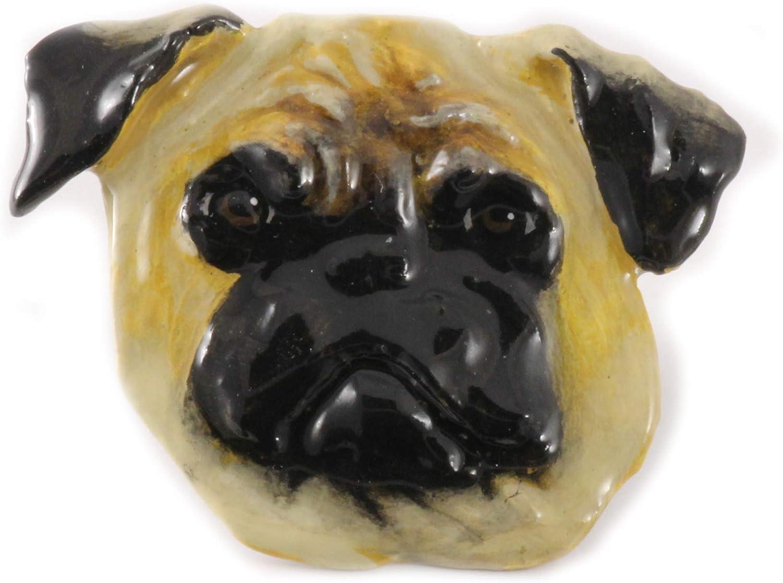 Jewelry Pug Dog Pewter Lapel Pin D148PR Brooch