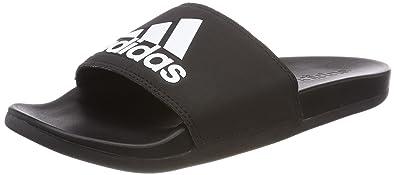quality design c10ae aa41c adidas Herren Adilette Cf+ Logo Dusch- Badeschuhe, Schwarz (Cblackcblack