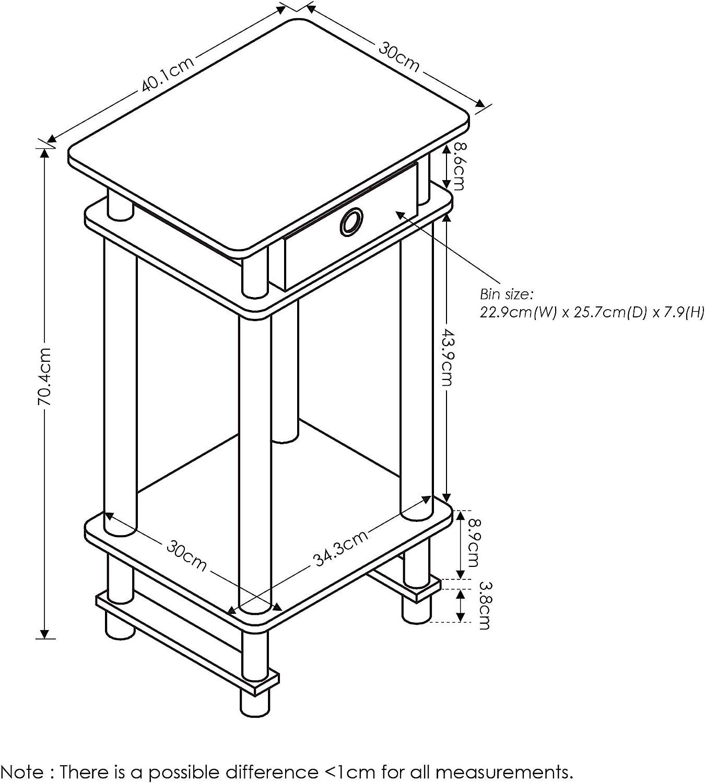 Furinno Turn-N-Tube Tavole finali Holz taglia unica Espresso//Marrone